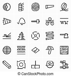 Timber and woodworking icons