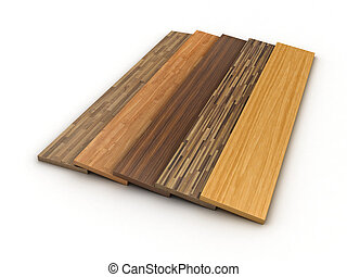 Illustration of a colour parquet on a white background