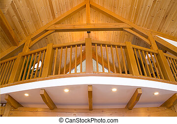 Beautiful detailing of the interior of a timber frame home