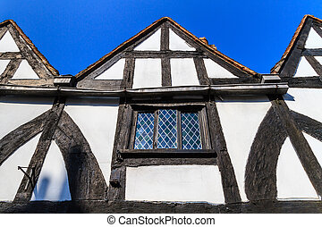 Timber framed house facade