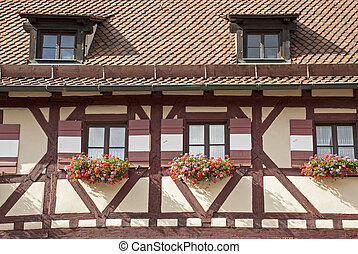 Timber framed house in Nuremberg