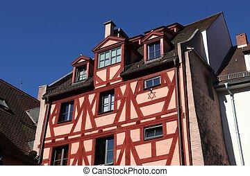 Timber framing, Nuremberg