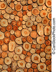 Timber log background