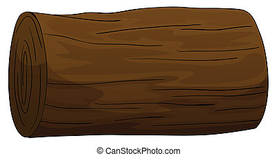 timber log - illustration of a timber on a white background