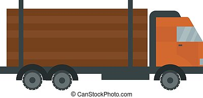 Timber truck illustration.