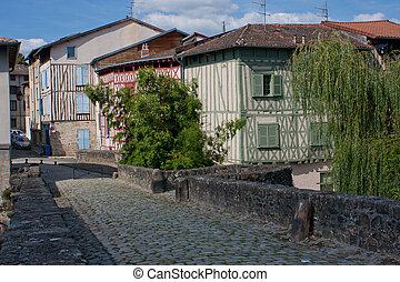 Timbered facades of Limoges in France