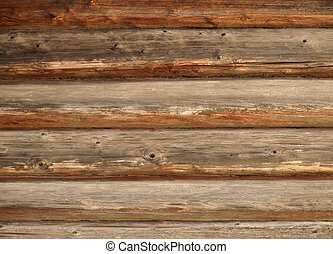 Timbered wall - Pattern of old weathered timbered wall...