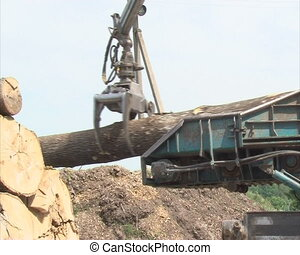 timbet granulate machine - special machine with crane takes...