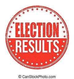 timbre, élection, résultats