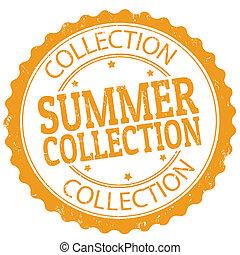 timbre, été, collection