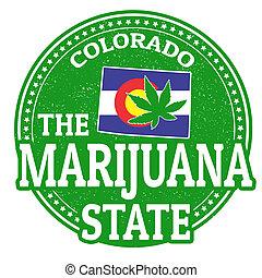 timbre, état, colorado, marijuana