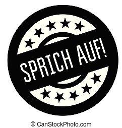 timbre, allemand, haut, parler