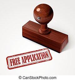 timbre, application, gratuite, rouges
