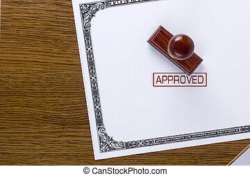 timbre, approuvé, citoyenneté