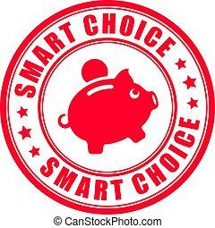 timbre, argent, faire, choix, sauver, intelligent