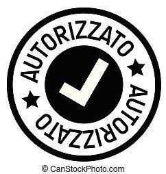 timbre, autorisé, italien
