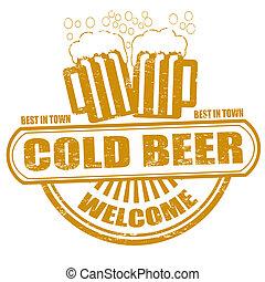 timbre, bière froide