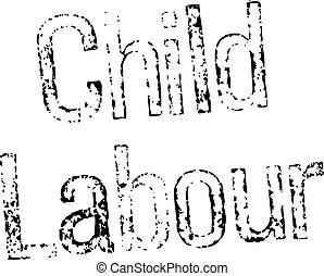 timbre, blanc, travail, enfant