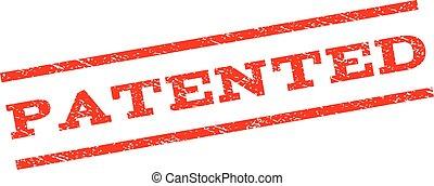 timbre, breveté, watermark