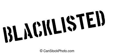 timbre, caoutchouc, blanc, noir, blacklisted