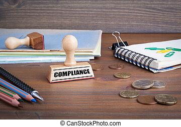 timbre, caoutchouc, compliance., bureau bureau