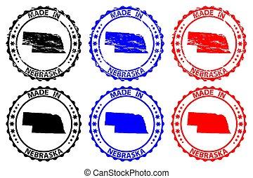 timbre, caoutchouc, fait, -, nebraska