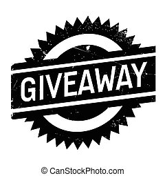timbre, caoutchouc, grunge, giveaway