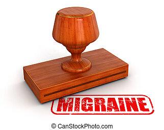 timbre, caoutchouc, migraine