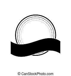 timbre, cercle, ruban, cachet
