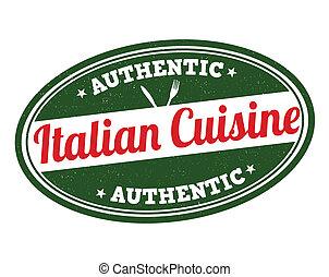 timbre, cuisine, italien