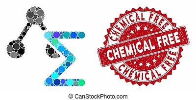 timbre, détresse, gratuite, collage, formule, chimique
