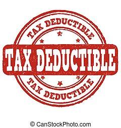 timbre, deductible, impôt