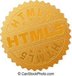 timbre, doré, html5, récompense