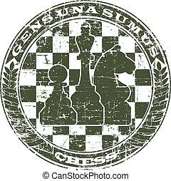 timbre, emblème, échecs, formulaire
