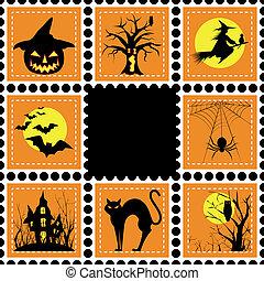 timbre, ensemble, halloween, illustration