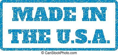 timbre, etats-unis., caoutchouc, fait