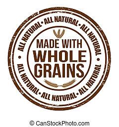timbre, fait, entier, grains