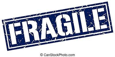timbre, fragile, grunge, carrée