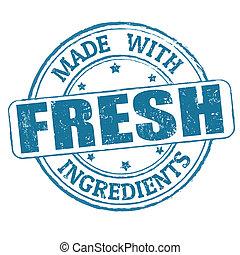 timbre, frais, fait, ingrédients