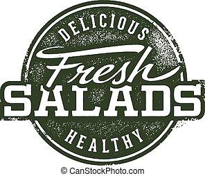 timbre, frais, salades, menu