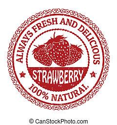 timbre, fraise