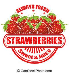 timbre, fraises