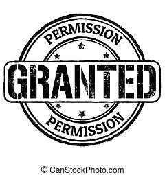 timbre, granted, permission