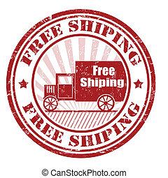 timbre, gratuite, expédition