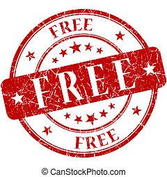 timbre, gratuite, rouges