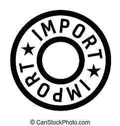 timbre, importation, blanc