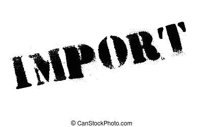 timbre, importation, caoutchouc, grunge