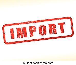 timbre, importation, fond blanc