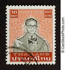 timbre, -, imprimé, thaïlande, environ, 1970: