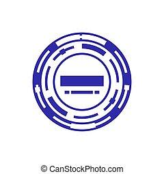 timbre, isolé, illustration, arrière-plan., vecteur, gabarit, blanc